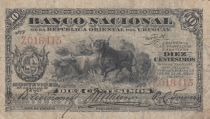 Uruguay 10 Centesimos  Vaches - 1887 - P.A. 87 - B+