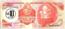 Uruguay 10 Nuevos Pesos sur 10000 Pesos, Jose Gervasio ARTIGAS - 1975
