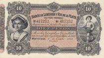 Uruguay 10 Pesos  - Banco de Londres y Rio de la Plata - 1883