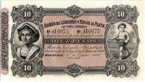 Uruguay 10 Pesos  - Christophe COLOMB - Enfant- 1883