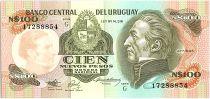 Uruguay 100 Nuevos Pesos, Jose Gervasio ARTIGAS - 1987