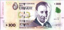 Uruguay 100 Pesos Urugayos - Eduardo Fabini 2015 (2018) - Map of Uruguay