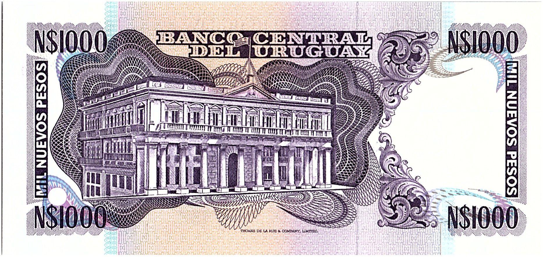Uruguay 1000 Nuevos Pesos, Jose Gervasio ARTIGAS - 1981