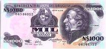Uruguay 1000 Nuevos Pesos, Jose Gervasio ARTIGAS - 1991