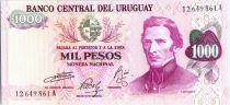 Uruguay 1000 Pesos, J.G. Artigas - Palais - ND (1974)