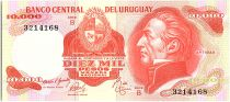 Uruguay 10000 Pesos, Jose Gervasio ARTIGAS - 1974