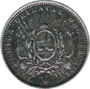 Uruguay 20 Centisimos République d\'Uruguay - 1877