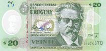 Uruguay 20 Pesos De San Martin - Leyenda Patria - 020 - Polymer - UNC