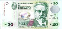 Uruguay 20 Pesos Urugayos Urugayos, De San Martin - Légende de la Patrie - 2011