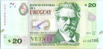 Uruguay 20 Pesos Urugayos Urugayos, De San Martin - Leyenda Patria - 2015