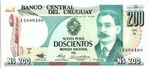 Uruguay 200 Nuevos Pesos, Jose Enrique RODO - 1986