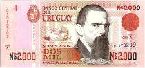 Uruguay 2000 Nuevos Pesos, Juan Manuel Blanes - 1989