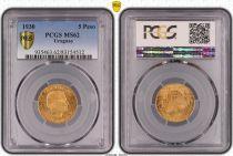 Uruguay 5 Pesos Artigas - 1930 - Gold