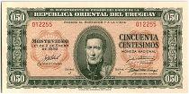 Uruguay 50 Centesimos, Jose Gervasio ARTIGAS - 19(39-66)