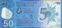 Uruguay 50 Pesos Urugayos, 1967-2017 Polymer (2018)