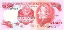 Uruguay 500 Nuevos Pesos, Jose Gervasio ARTIGAS - 1985