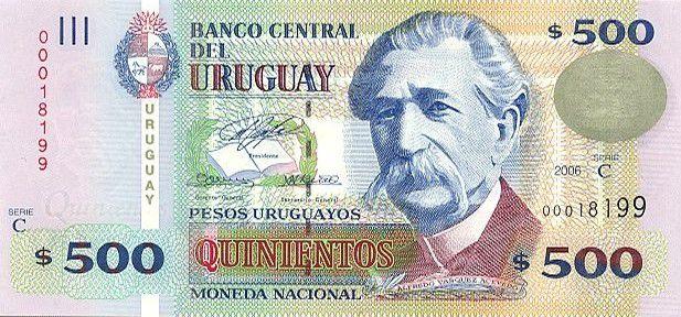 Uruguay 500 Pesos  Urugayos, Eduardo Acavedo Vasquez - University - 2006