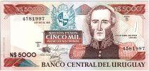 Uruguay 5000 Nuevos Pesos, Juan Antonio LAVALLERA - 1983