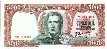 Uruguay 5000 Pesos, Jose Gervasio ARTIGAS - 1967
