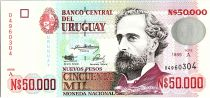 Uruguay 50000 Nuevos Pesos, Jose Pedro Varela - 1989