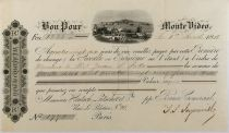 Uruguay Banco Comercial Monte Video - Lettre de Change (Première) 1880 - PTTB