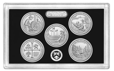 USA  Beautiful Quarters Proof set 2019 Silver