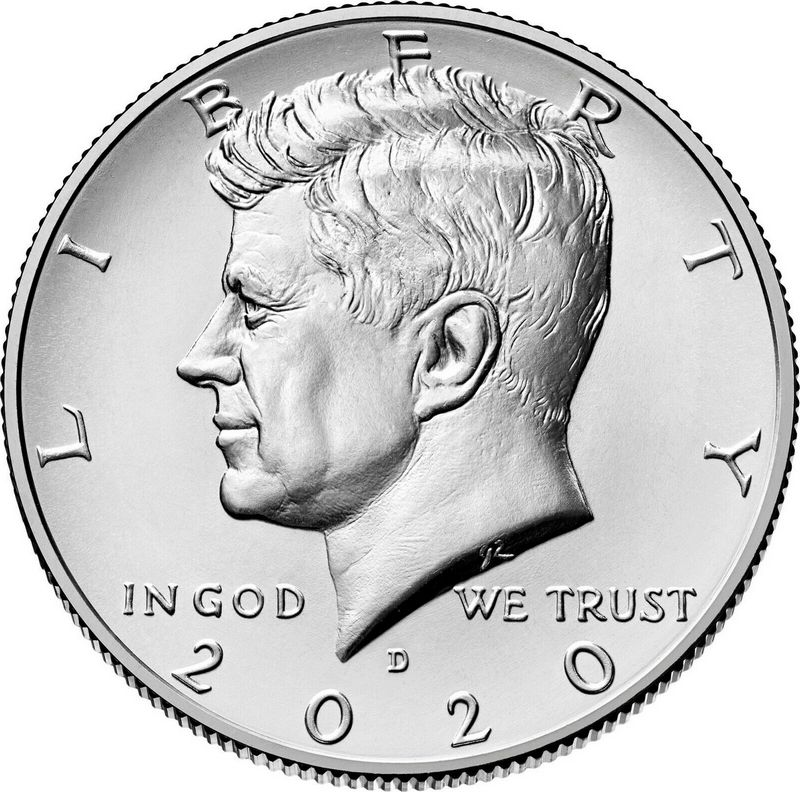 USA 1/2 $ J.F. Kennedy - D Denver - 2020