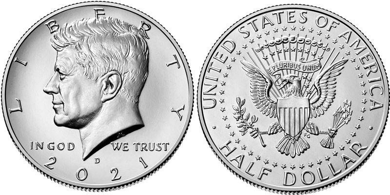 USA 1/2 $ J.F. Kennedy - D Denver - 2021