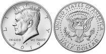 USA 1/2 $ J.F. Kennedy - P Philadelphie - 2019