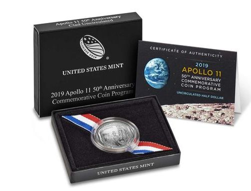 USA 1/2 Dollar Apollo 11 - 2019 S San Francisco
