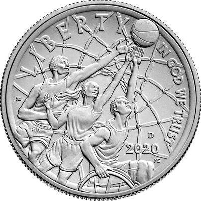 USA 1/2 Dollar Basket Ball - 2020 D Denver - Hall of Fame Uncirculated