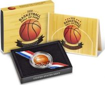 USA 1/2 Dollar Basket Ball - 2020 S San Francisco - Hall of Fame Colorisée