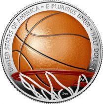 USA 1/2 Dollar Basket Ball - 2020 S San Francisco - Hall of Fame Colorisée
