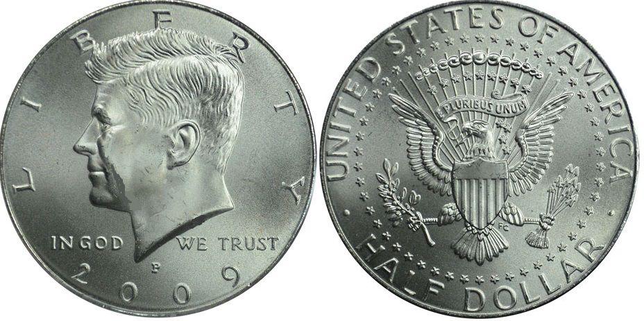 USA 1/2 Dollar J.F. Kennedy - 2009 P Philadelphie