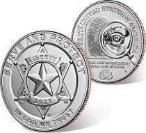 USA 1/2 Dollar Serve and Protect - 2021 - San Francisco - Uncirculated - FDC