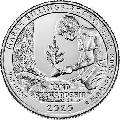 USA 1/4 Dollar - Quarter Marsh Billings Rockefeller  2020 - Denver D