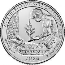 USA 1/4 Dollar - Quarter Marsh Billings Rockefeller  2020 - Denver D