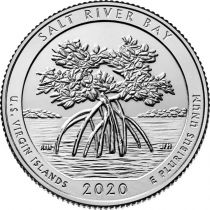 USA 1/4 Dollar - Salt River Bay 2020 - D Denver