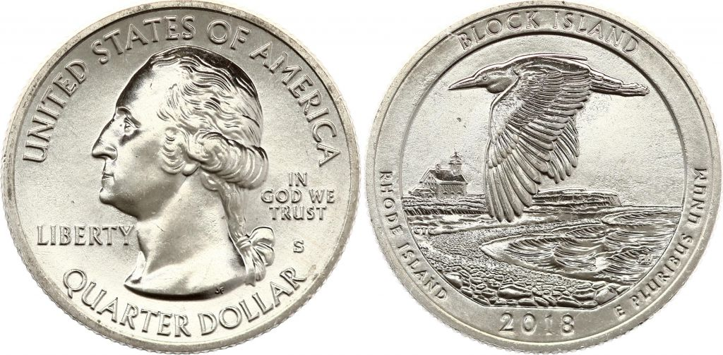 USA 1/4 Dollar Block Island - S San Francisco - 2018