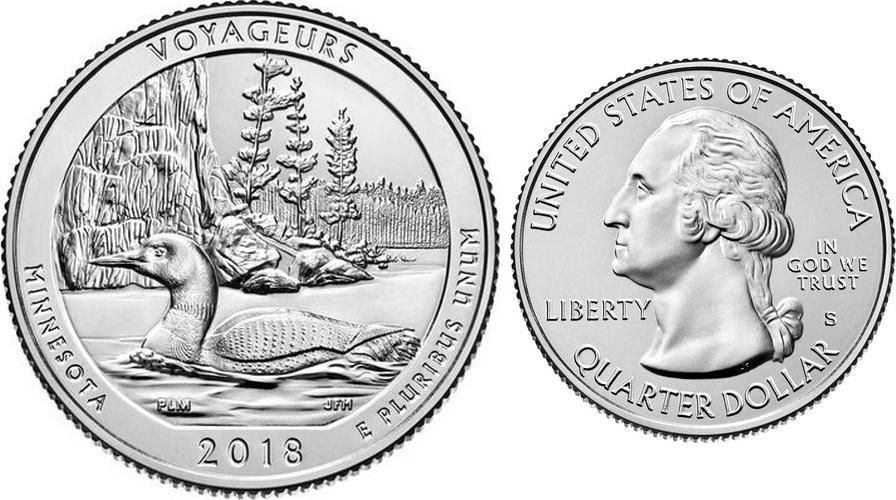 USA 1/4 Dollar Pictured Rocks - S San Francisco - 2018