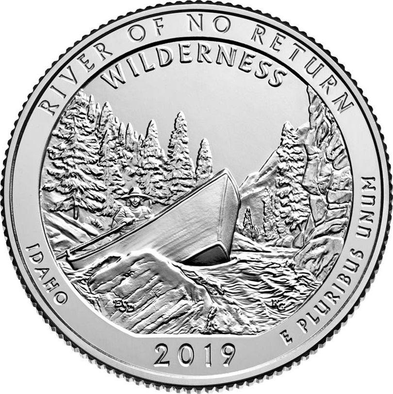 USA 1/4 Dollar River of No Return Idaho - D Denver - 2019