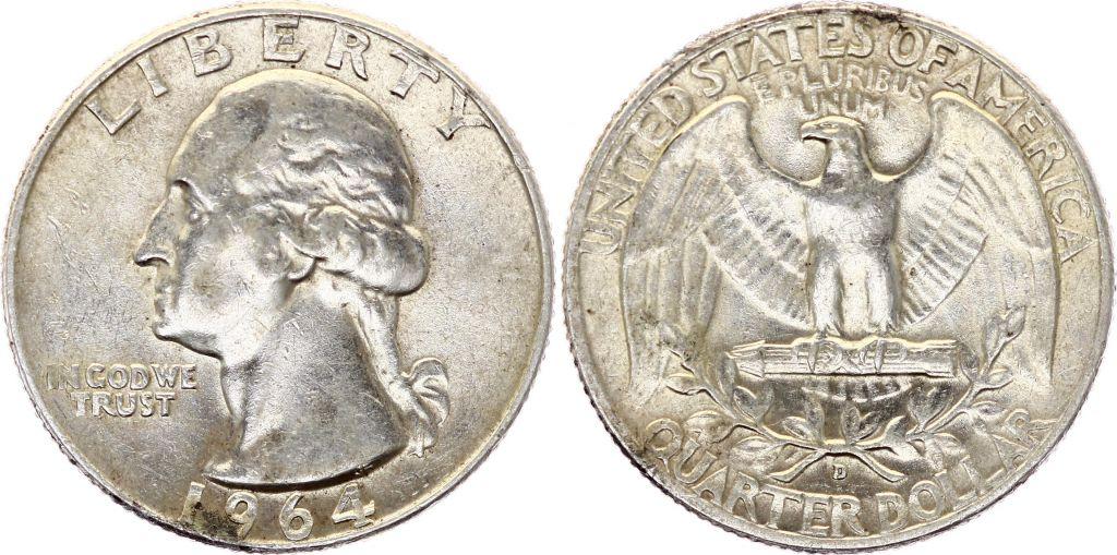 USA 1/4 Dollar Washington - 1932-1964 - Silver