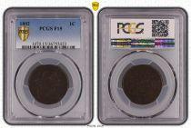 USA 1 Cent ?Draped Bust? - 1802 - PCGS F15