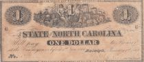 USA 1 Dollar - State of North Caolina - 1863 - TB +