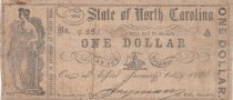 USA 1 Dollar - State of North Caolina - 1866 - TB