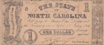 USA 1 Dollar - State of North Carolina - 1866 - Fine