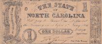 USA 1 Dollar - State of North Carolina - 1866 - TB