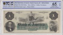 USA 1 dollar, Bank of América, Providence - 1860 - Lettre A - PCGS 65 OPQ
