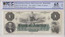USA 1 dollar, Bank of América, Providence - 1860 - Lettre B - PCGS 65 OPQ
