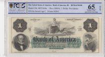 USA 1 dollar, Bank of América, Providence - 1860 - PCGS 65OPQ